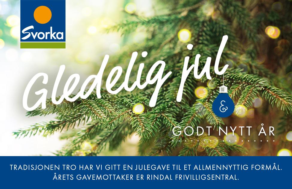 Julehilsen fra Svorka Rindal Frivilligsentral 2016