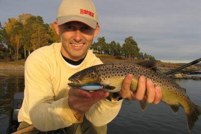 Vinner av fisketur - Håkon Rekstad