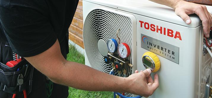 Service på varmpeumpen